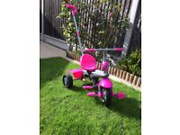 Smartrike girls trike with parent steering pole in pink trike⚡️ 🔥 💥