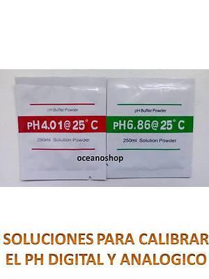 2 SOBRES CALIBRACION PH digital analogico calibradora 4,01 6,86 phmetro calibrar