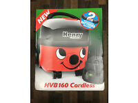 HENRY HVB160 CORDLESS VACUUM CLEANER BRAND SEALED WITH WARRANTY AND RECEIPT