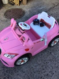 Toy battery operated car