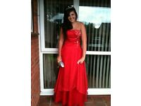 Stunning red prom dress for sale size 10-12