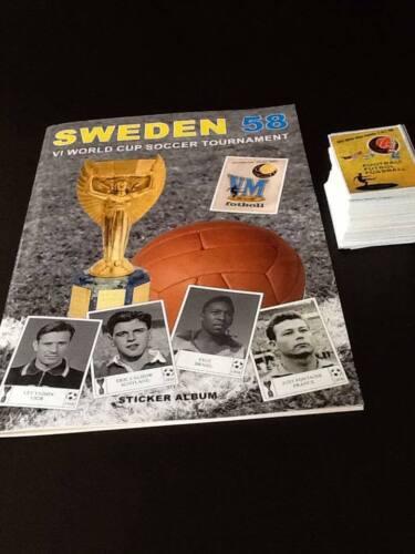 No Panini World Cup Sweden 58 - Empty Album + Complete Sticker Set - Original