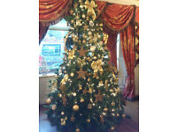 Artificial Christmas Tree 11ft - very realistic. Excellent condition with integral stand.
