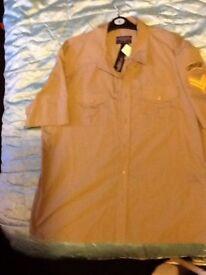 Short sleeved khaki shirt