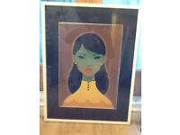 Green lady extra large profession framed artwork