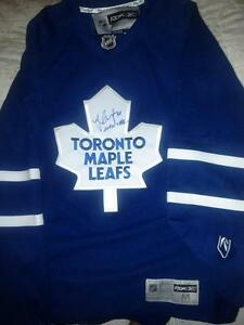 "JONAS ""MONSTER"" GUSTAVSSON SIGNED TORONTO MAPLE LEAFS RBK JERSEY"