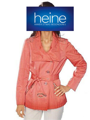 Kurzjacke Trench-Optik. ASHLEY BROOKE by Heine. Koralle. NEU!!! KP 99,90 € SALE%