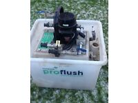 Power flush machine for heating systems