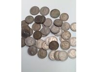 Coins 40 two shillings 3 half crowns