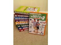 8 Diary of a Wimpy kid books+ DVD of 4th book. Mix of hard and paper backs. Near perfect condition