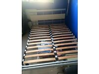 Sturdy silver double bed frame