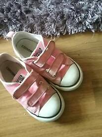 Girls pink converse size 9!