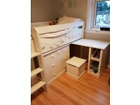 Single Cabin Bed with Drawers and Cupboard