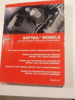 2007 Harley Davidson Softail international Owners Manual