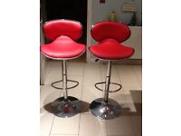 Red breakfast bar chairs