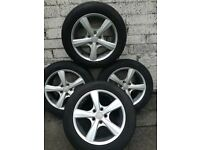 4 × ELTEX star alloy wheels & tyres 215/ 55 R16