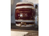 Antique Delph draught Sherry container