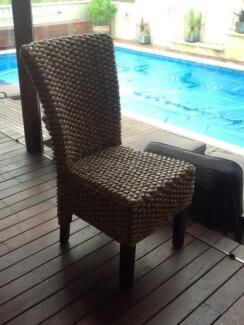 Water hyercinth dining chairs Halls Head Mandurah Area Preview