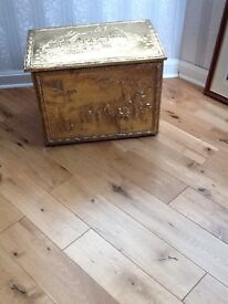 Old Brass Coal Box for sale in good condition