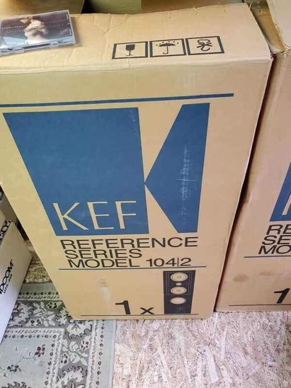 Kef 104.2 Speakers With Boxes