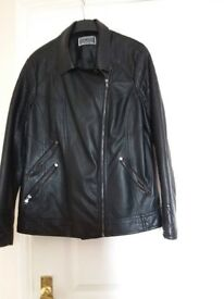 Ladies leather look jacket