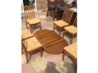Table and chairs. Good condition.