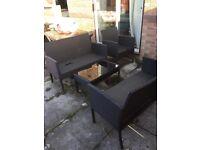 Garden Furniture - Table & 6-seat set