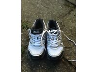 Cricket shoes ( spikes) sizes 4 and 3, Slazenger.
