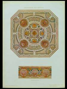 DECOR PLAFOND -1910- LITHOGRAPHIE, AUGUSTO SANTINI - France - Période: XXme et contemporain - France
