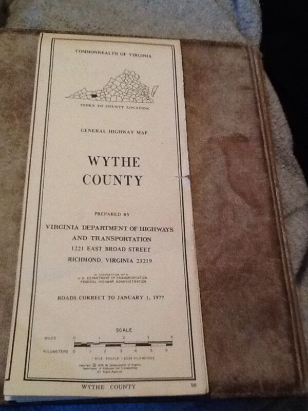 1977 Wythe County, Virginia General Highway Map