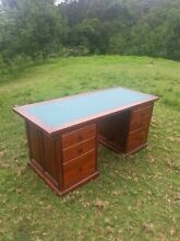 Timber Writing Desk w/ Leather Top Centennial Park Eastern Suburbs Preview