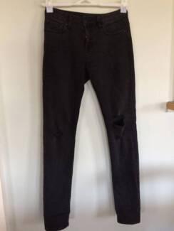 Sportsgirl distressed charcoal-coloured jeans Auchenflower Brisbane North West Preview