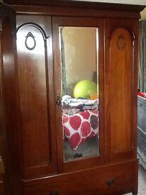 Beautiful large period wardrobe. Huge drawer below.