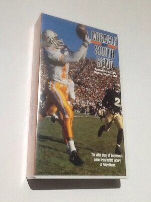 Notre Dame Tennessee Volunteer Football Highlight Miracle At South Bend VHS (Notre Dame Football South Bend)