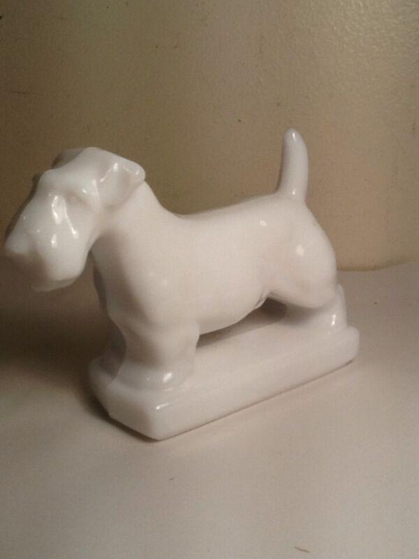 Vintage Imperial Milk Glass Scotty - Scottie Dog Paperweight