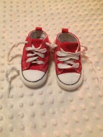 Brand New Converse Baby Shoes - Size UK3