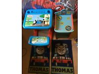Thomas and friends bedroom set, bed, wardrobe, table, rugs and duvet sets!