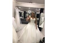 Brand New with tags Anna Sorrano wedding dress by WED2BE princess ball gown with swarovski details