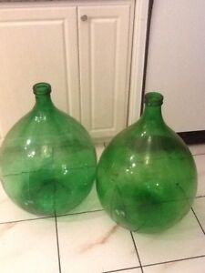 Glass demijohns - 2 X 54 litres