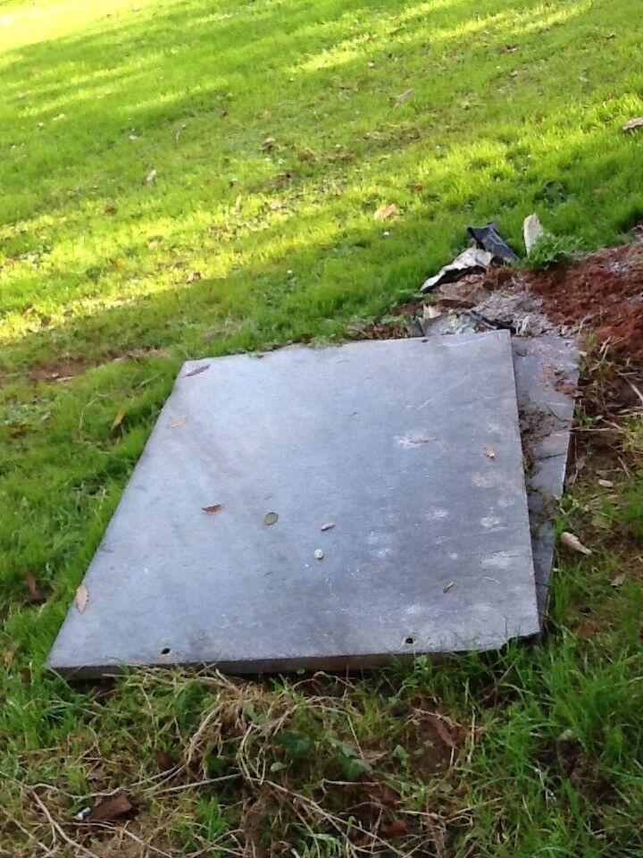 Slate slab - grey
