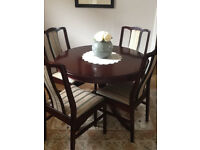 Stag Mahogany Diningroom Furniture including: Table,4Chairs,Sideboard and Corner Unit
