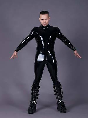 LATEX CATSUIT RUBBER LATEX HERREN CATSUIT GR XS XXL
