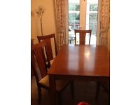 Dining table with six chairs , side board and matching coffee table