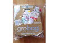 Brand new 6-18 month grobag sleeping bag 1 tog - travel version