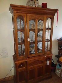 oak display kitchen unit