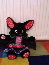 As new Build a bear bat with Halloween dress and glow in the dark ears and feet