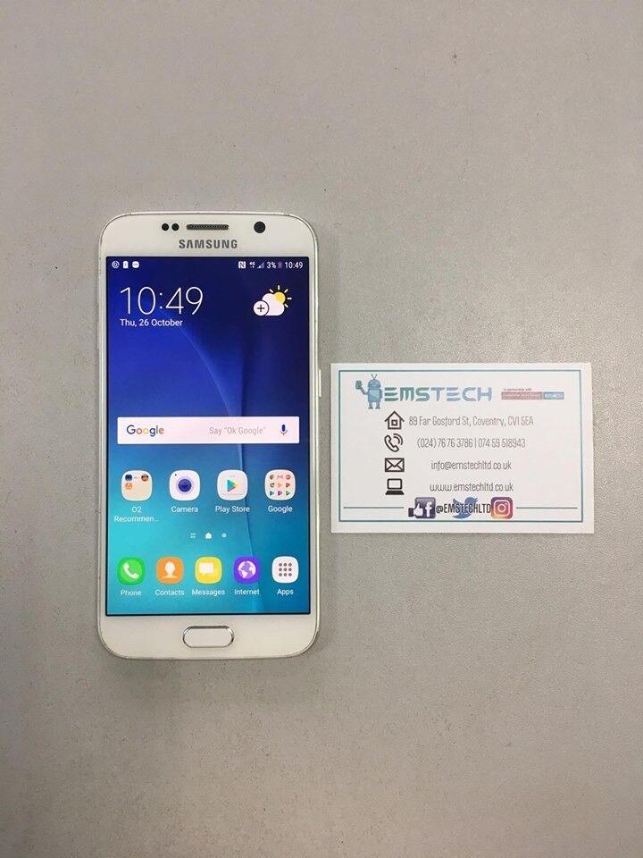 Samsung S6 32GB Unlocked Receipt Provided - White