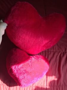 Heart shape pillows for couch or bed
