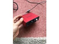 Focusrite Scarlett Solo (1st Gen) USB Audio Interface - No Box With Audio Cable For Mic