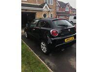 2011 black Alfa Romeo Mito 1.4 petrol